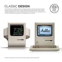 Soporte Retro para reloj inteligente, soporte de mesa Estilo Vintage de silicona, soporte para Apple Watch 1/2/3/4, accesorios para cargador
