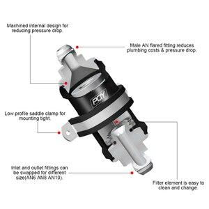 Image 5 - VR   PQY أسود AN6 / AN8 / AN10 فلتر وقود مضمن E85 الإيثانول مع عنصر الفولاذ المقاوم للصدأ 100 ميكرون وملصق PQY