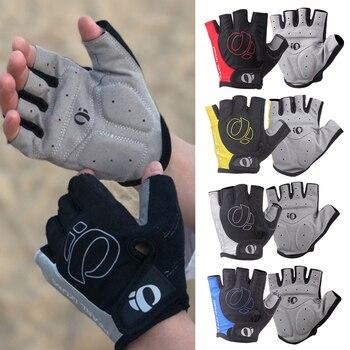 1Pair Half Finger Cycling Gloves -Slip -sweat Gel Bicycle Riding Gloves  Shock MTB Road Mountain Bike Sports Gloves
