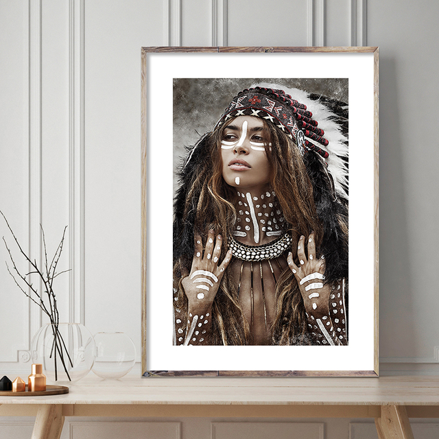 Boho Woman Canvas Poster