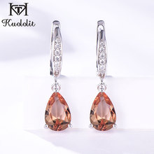 Kuololit Zultanite Gemstone Clip Earrings for Women Solid 925 Sterling Silver Created Color Change Earrings Wedding Fine Jewelry cheap Diaspore Third Party Appraisal 925 Sterling Other Artificial material TRENDY PY8HA217870 Water Drop KE009AL-W Wedding Engagement Anniversary Party
