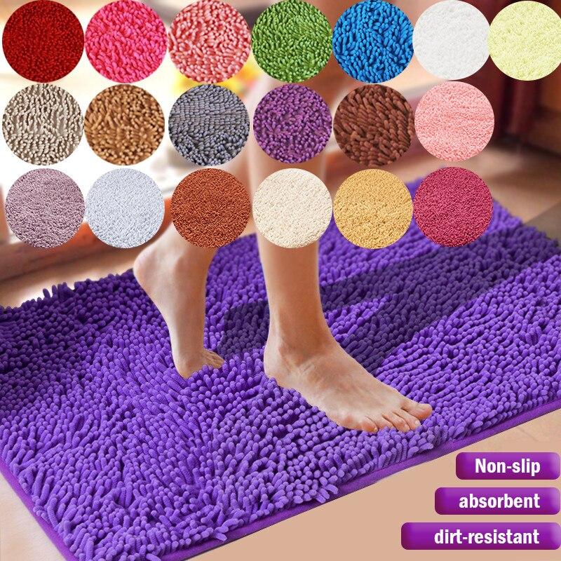 저렴한 대형 두꺼운 셔닐 실 목욕 매트 침실 주방 러그 카펫 거실 바닥 안티-슬립 도어 흡수 패드 매트