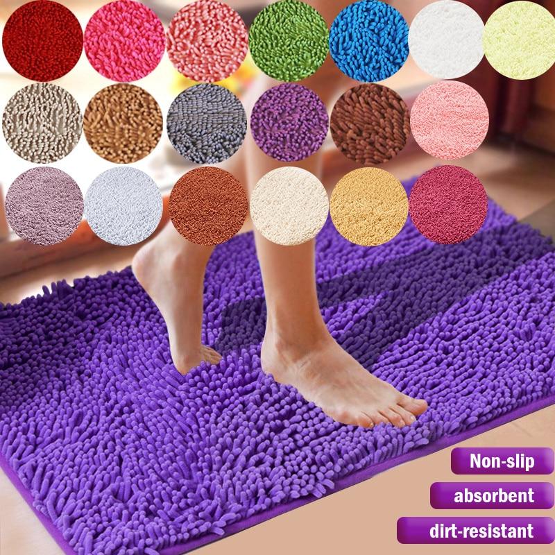 Günstige Große Größe Verdicken Chenille Bad Matte schlafzimmer küche Teppich Teppich Für Wohnzimmer Boden Anti-slip Tür Saugfähigen pad Matte