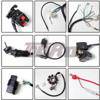 Complete Electrics 250 Line Assembly 3 hole Coil Wiring Harness Coil Stator Wire Loom for Dirt Bike ATV QUAD 200cc 250cc