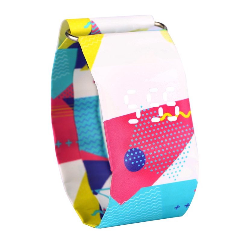 Creative DuPont Paper Strap Paper Watch For Gift Durable Quartz Watches Female Gift Adorable Pattern Wristwatch Gift Bracelet