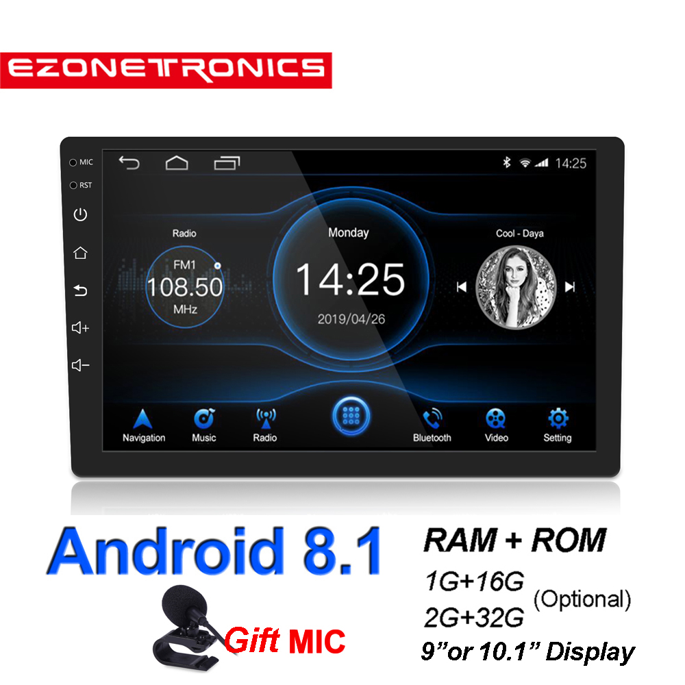 New2G+32G Android8.1 GPS Navigation Car Radio Car Stereo 9 or 10.1inch 2.5D Touch Wifi Bluetooth4.0 Audio Player Mirror Link RDS