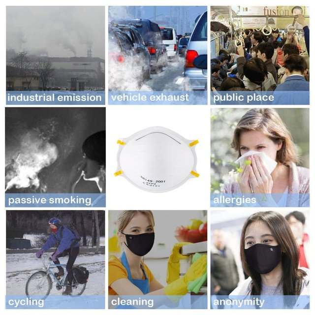 N95 6 layer Filter Mask Face Mask As FFP3 FFP2 Windproof Dustproof Anti PM2.5 Prevent Flu Mask KN 95Mask Features With Gift 4