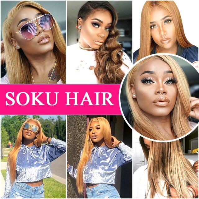 13x4 Lace Front Brazilian Human Hair (Black, Brown, Blonde)  3