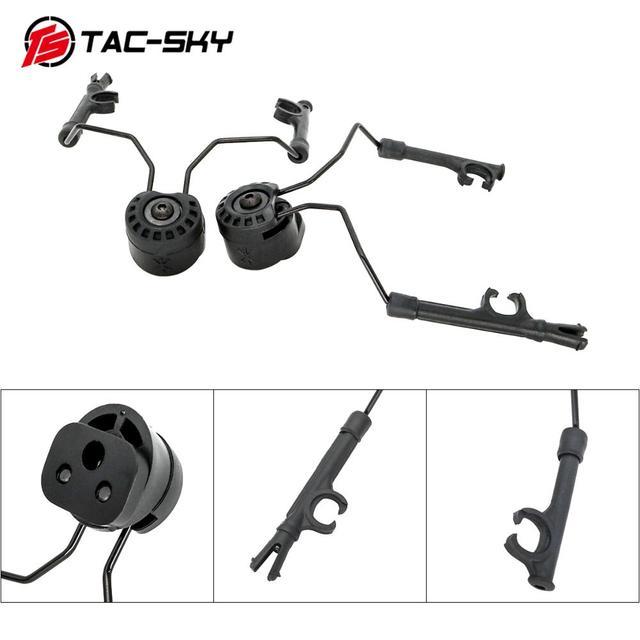 TAC SKY arco capacete ferroviário suporte rápido ops núcleo adaptador ferroviário capacete tático fone de ouvido peltor comtac i ii iii iv suporte tático