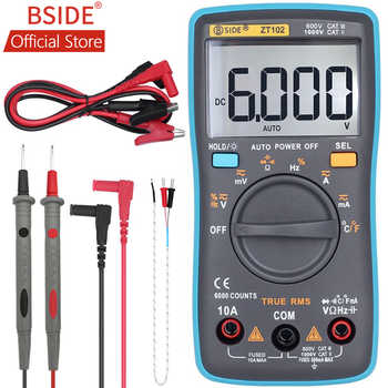 BSIDE ZT102 Ture RMS Digital Multimeter AC/DC Voltage Current Temperature Ohm Frequency Diode Resistance Capacitance Tester - DISCOUNT ITEM  27% OFF All Category
