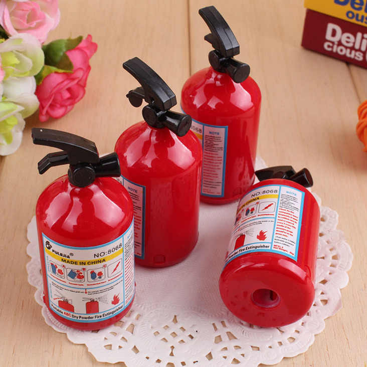 Ellen Brook 1 PCS Creative Fire Extinguisher Shape Pencil Sharpener Cutter Knife Kids Student Prize Stationery School Supplies