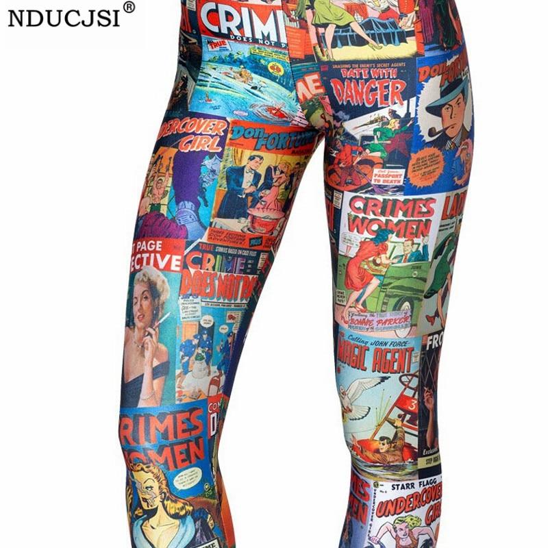 NDUCJSI Pants Women's Digital Print Leggings Cartoon Game Animation Splat Style Big Size 4XL High Waist Pants Fitness Trousers