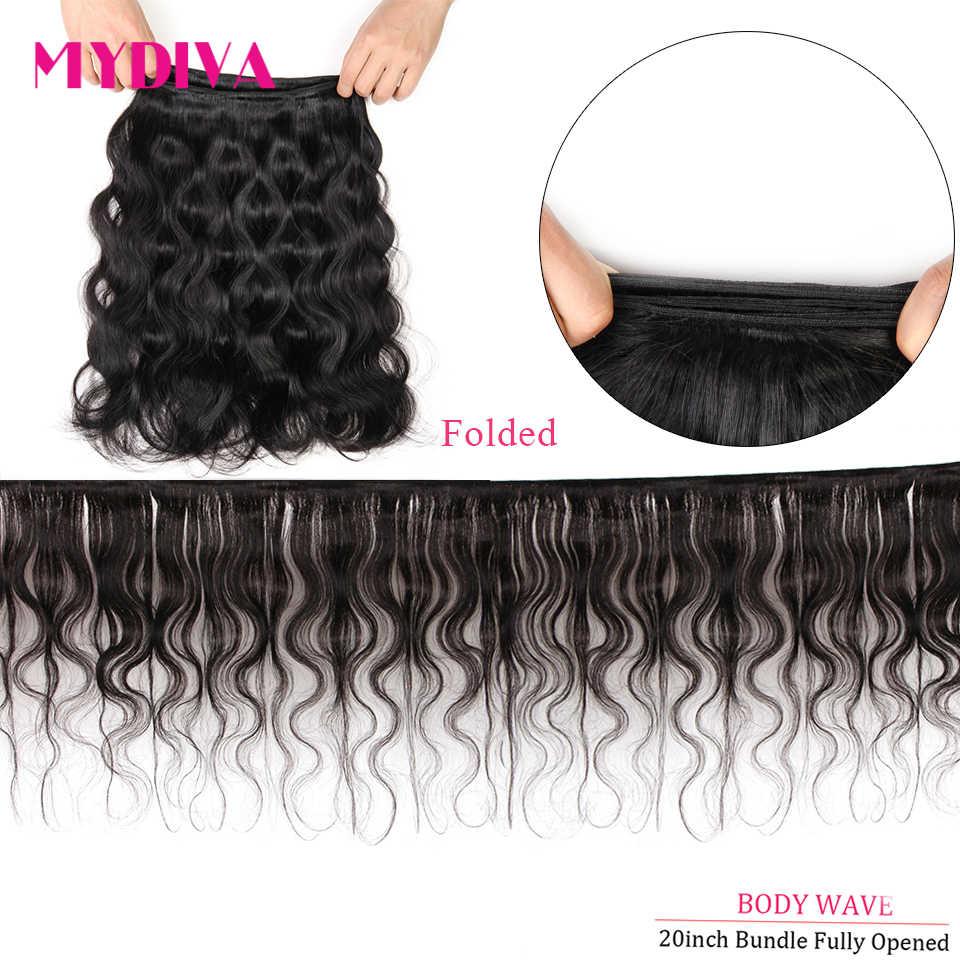 Vücut gölgeli brezilyalı saçı örgü demetleri 100% insan saç demetleri 3 4 adet 30 32 34 36 inç doğal renk Remy saç ekleme
