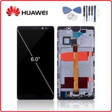 HUAWEI orijinal Mate 8 LCD ekran dokunmatik ekran Digitizer için Huawei Mate8 ekran çerçeve değiştirme ile NXT L29 NXT L09