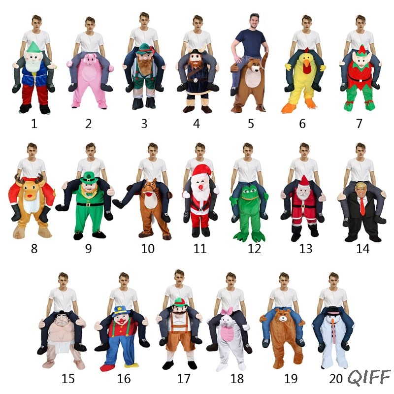 Unisex Funny Piggy Back Cosplay Costume Christmas Halloween Animal Ride-On Pants