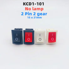 KCD1-101 rocker switch,15x21mm, 2 pinos, 6a-10a, 110v, 250v, KCD1-101,pluggable, pode ser combinado com 4.8 plug-in cabo, preto marinho
