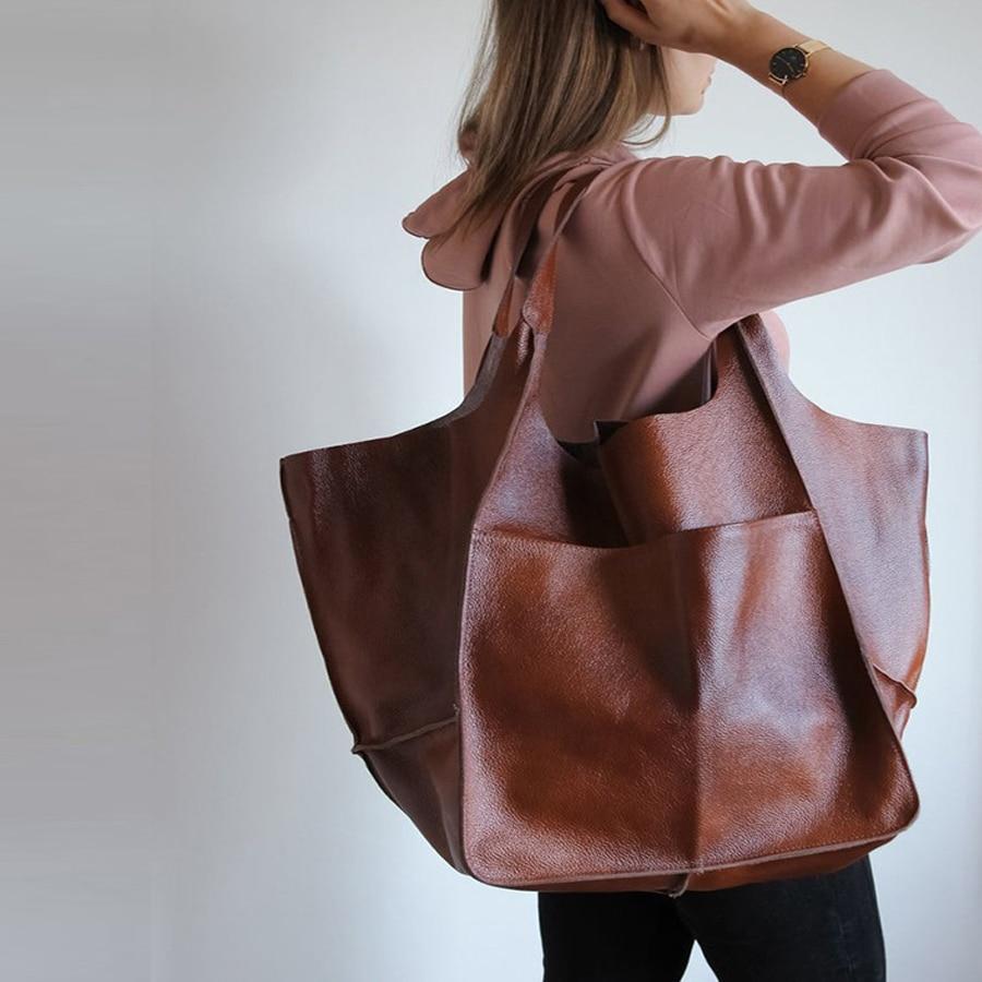 Повседневная обувь из мягкой кожи Большие Ёмкость Сумка-тоут женские сумки через плечо сумки дизайнерские сумки класса люкс из искусственн...