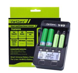 Image 4 - VariCore cargador de batería LCD V40, 3,7 V, 18650, 26650, 16340, 14500, 18350, batería de litio AA/AAA, Ni MH