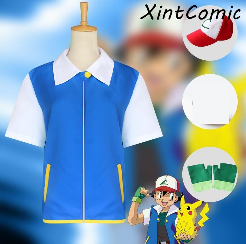 anime-font-b-pokemon-b-font-ash-ketchum-cosplay-costume-blue-jacket-gloves-hat-ash-ketchum-costumes-font-b-pokemon-b-font-adult-kids-costume