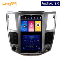 4G+64G Android 9.0 Vertical Screen GPS Navigation for Lexus RX/Toyota Harrier 2004 2007 Car Stereo Audio Player Headunit
