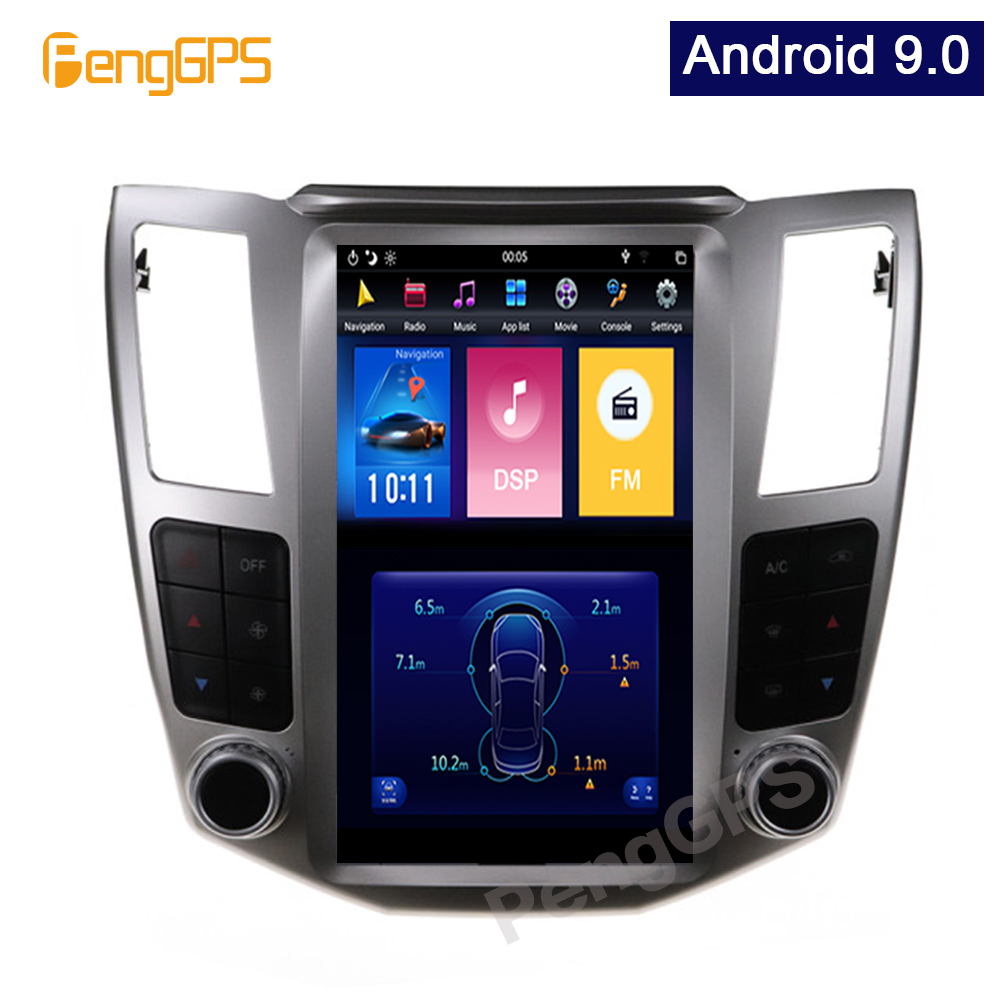 4G+64G <font><b>Android</b></font> 9.0 Vertical Screen GPS Navigation for <font><b>Lexus</b></font> RX/Toyota Harrier 2004-2007 Car Stereo Audio Player Headunit image