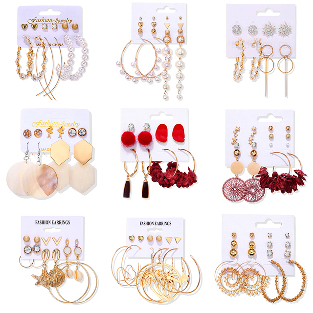 Pearl Earrings set 4