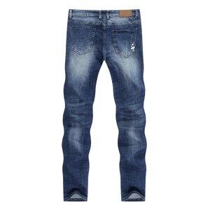 Image 2 - KSTUN Jeans Männer Stretch Sommer Blau Business Casual Dünne Gerade Jeans Mode Jeans Männliche Hose Regular Fit Große Größe