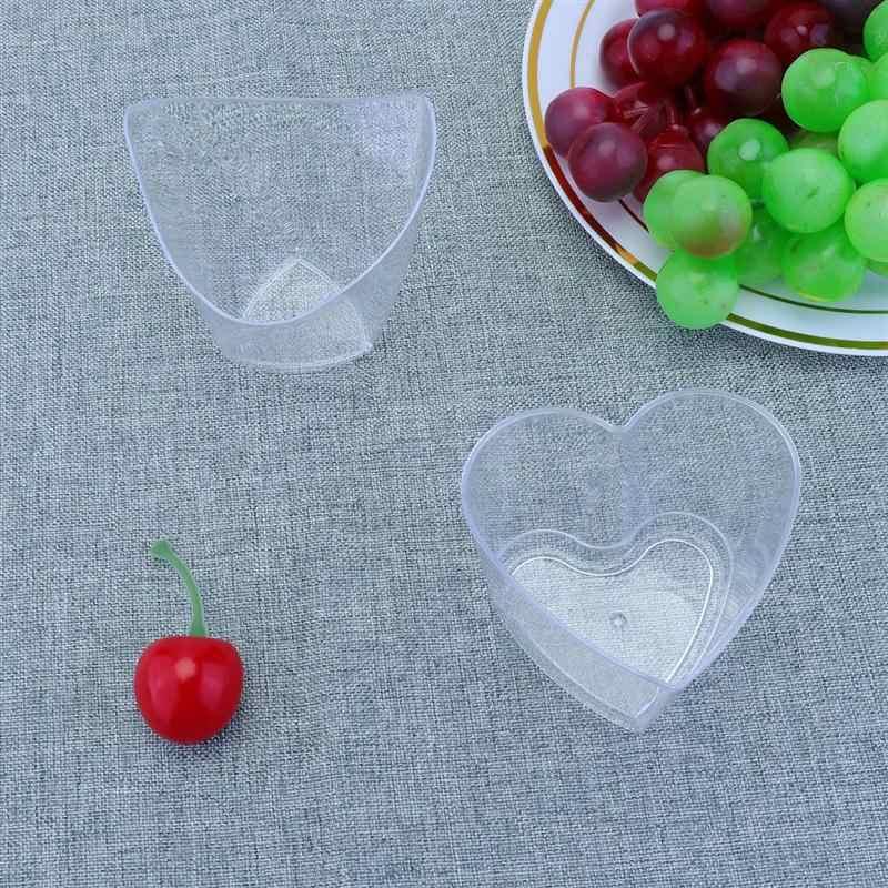 3 stücke Dessert Tassen 2020 Hochzeit Einweg Tassen Dessert Cups Mini Pudding Gelee Tassen Party Küche Zubehör (Zufällig Stil)