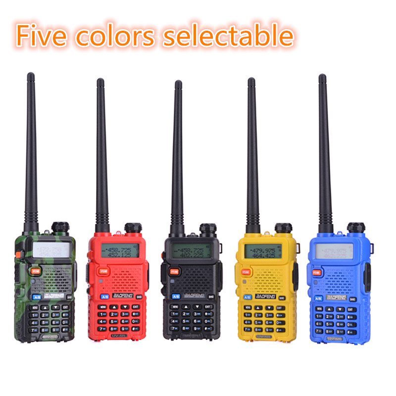 Original Baofeng UV-5R Two Way Radio Handheld Dual Band Dual Display Wireless Communication UV5R Walkie Talkie UV5R Transceiver