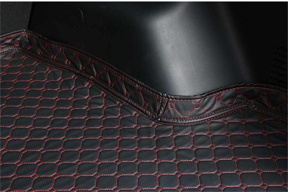SJ, lado alto ajuste personalizado todo el tiempo coche Mat tronco de carga trasera del trazador de líneas, alfombra almohadilla para Cadillac XT5 2015 16 17-2019