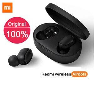 Image 2 - Оригинальные Xiaomi Redmi Airdots 2 TWS наушники истинные Беспроводные Bluetooth 5,0 стерео басы с микрофоном свободные наушники AI Control