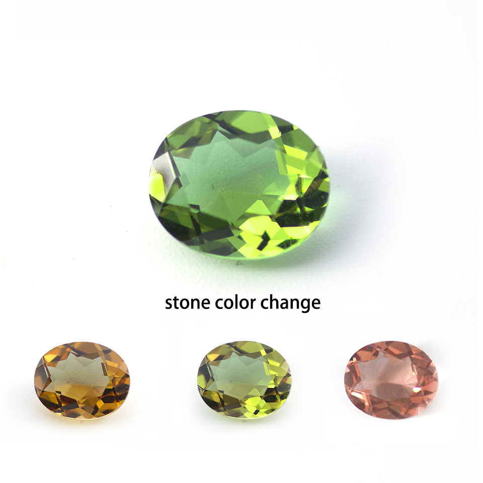 Bolai 5ct Created Diaspore Zultanit Oval Cut 12x10mm Loose Gemstone For DIY Fine Jewelry 925 Silver Mounting Color Change Stone