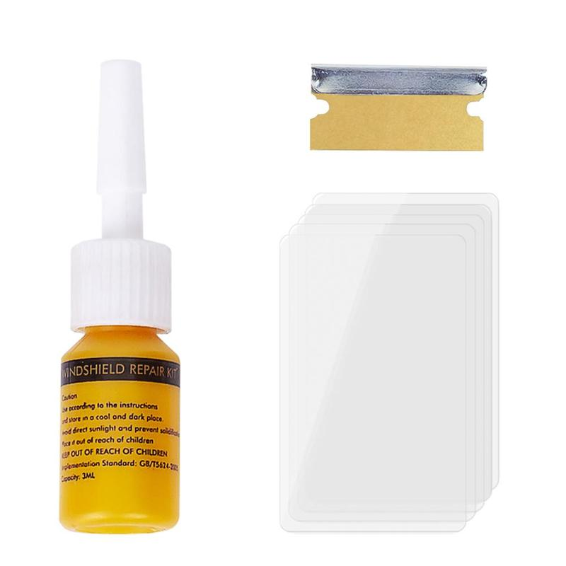 Car Windshield Repair Kit to Restore Scratch Crack of Car Window with Polishing Tool