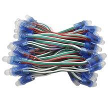 50 шт. гирлянды WS2811 водонепроницаемый модуль 5 в пиксель RGB шарик адресуемый светодиодный светильник IP68