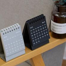 Настольный бумажный календарь, мини настольный календарь, настольный календарь с катушкой, сделай сам, блокнот, годовой Органайзер