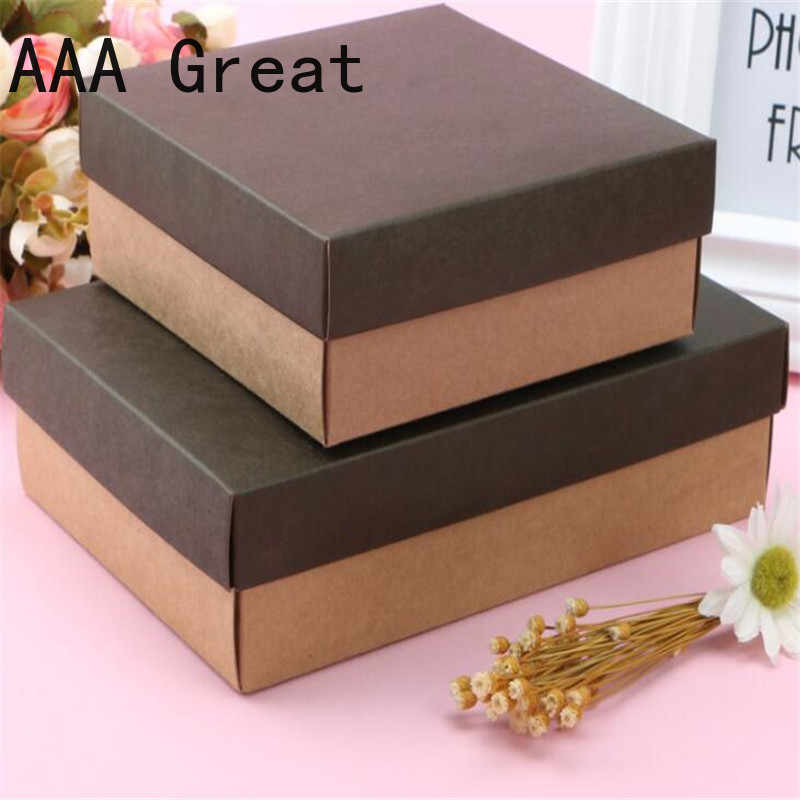 10Pcs/Lot Party Gift Boxes Favor Boxes Holiday Box Christmas Present Gifts Box Party Supplies Birthday Wedding Packaging Cake