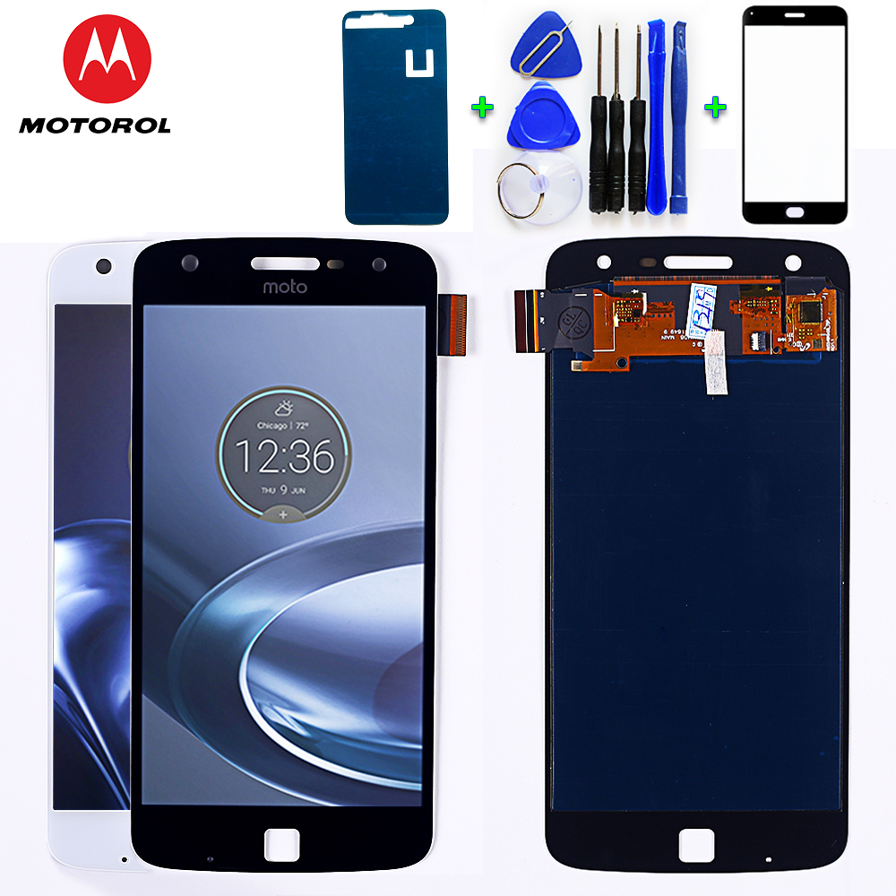 Motorola Moto Z Play 5.5 inch LCD Display XT1635 Touch Screen Digitizer 1920*1080  Assembly with Free Tempered Glass and Tools-in Mobile Phone LCD Screens from Cellphones & Telecommunications