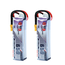 2PCS Gaoneng GNB HV 650mAh 60C 2S HV Lipo battery With JST XT30 Plug For Emax Tinyhawk Kingkong LDAR