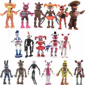 Image 1 - 17 Stks/set Vijf Nachten Op Freddys Action Figure Speelgoed Fnaf Bonnie Foxy Fazbear Bear Beeldjes Speelgoed Pop Kids Gift