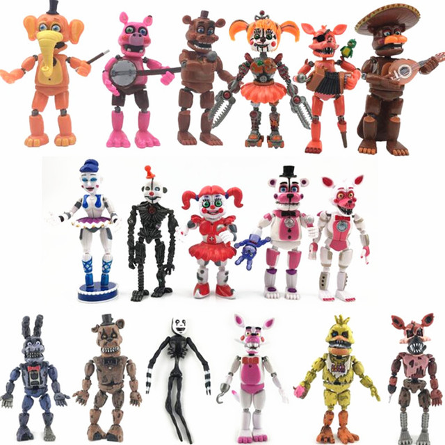Figuras de acción de FNAF, Bonnie Foxy, Fazbear, muñecos de juguete para niños, cinco noches en freddys, 17 unidades