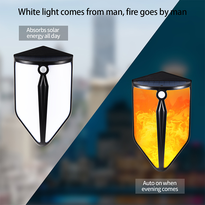 Solar-LED-Licht Outdoor Mit Motion Sensor Straße Lichter IP65 Wasserdichte Flamme Wirkung Vintage Decor Wand Lampe Garten Beleuchtung
