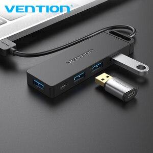 Vention usb hub 3 0 adaptador 4 portas usb 3.0 divisor de alta velocidade otg adaptador para computador portátil pc acessórios 2.0 hub usb