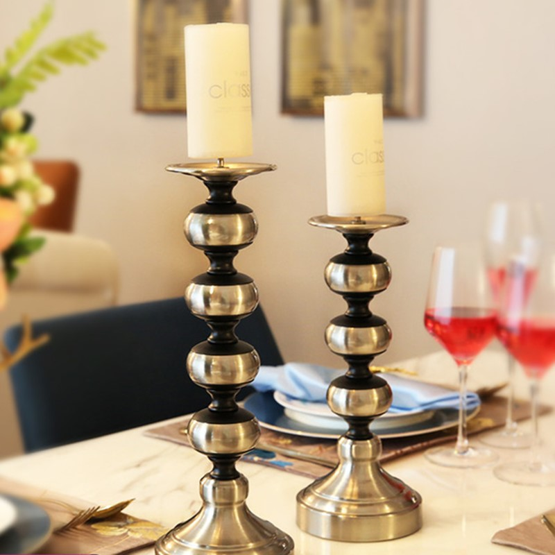 Retro Candle Holder Decoration Candlelight Dinner Props Candle Romantic Table Decorations Wedding Supplies Metal Figurines Miniatures Aliexpress