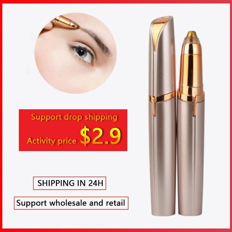 Electric Mini Eyebrow Trimmer Epilators Face Eyebrow Hair Remover Epilator Shaver Razor Instant Painless Shaving Dropshipping