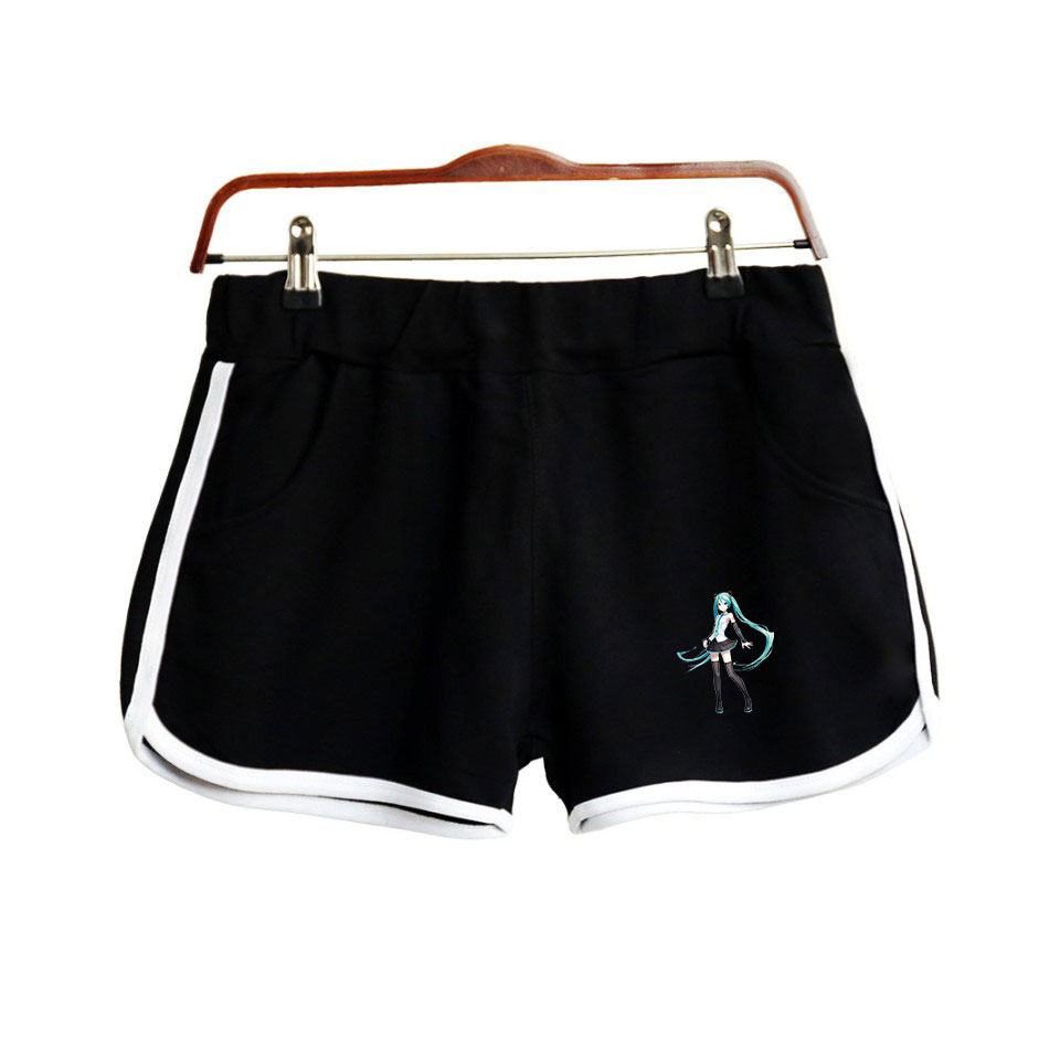 Hatsune Miku Print Popular Hip Hop Summer Shorts Fashion Hipster Shorts Casual Street Hipster Basic Summer Shorts Moletom