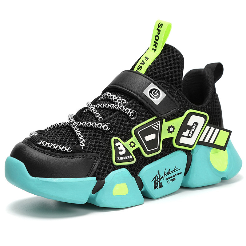 Кроссовки детские для мальчиков, удобная повседневная спортивная обувь для бега, C66, весна 2020