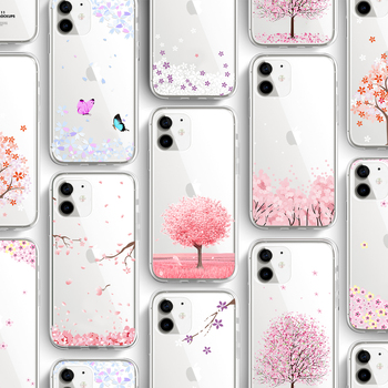 ciciber Plant flower Phone Cases For Iphone 11 Case For iPhone 11 Pro XR 7 X XS MAX 8 6 6S Plus 5S SE Silicone Funda Coque Cover ciciber dragon ball phone case for iphone 11 pro max xr x xs max tempered glass cover cases for iphone 7 8 6 6s plus funda coque