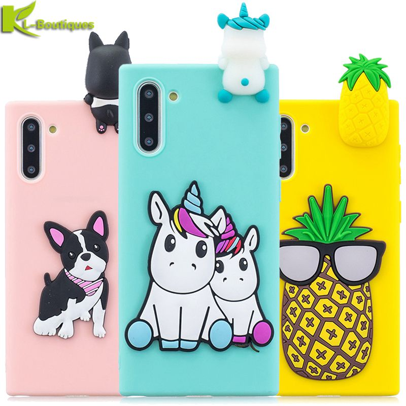 Note 10 Plus Case on sFor Coque Samsung Galaxy Note 10 Plus Note10 Pro Cover Fundas 3D Doll Toys Soft TPU Silicone Phone Cases