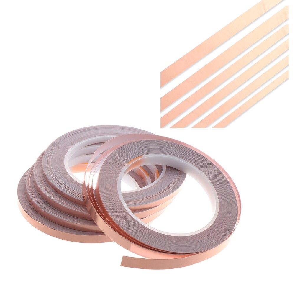 2020 Новинка 1 шт. 25 метров односторонняя проводящая медная фольга лента полоса защитный клей EMI Экранирование теплостойкая лента