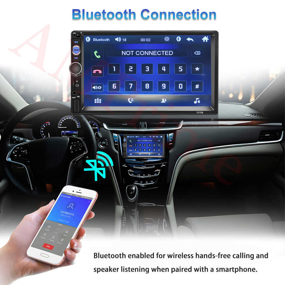"""AMPrime uniwersalny samochodowy odtwarzacz multimedialny 2 din Autoradio 2din Stereo 7 """"ekran dotykowy odtwarzacz wideo MP5 Radio samochodowe kamera cofania"""